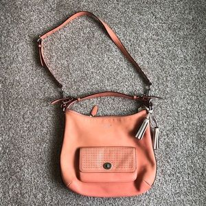 Coach Leather Legacy Courtenay Bag Creamsicle